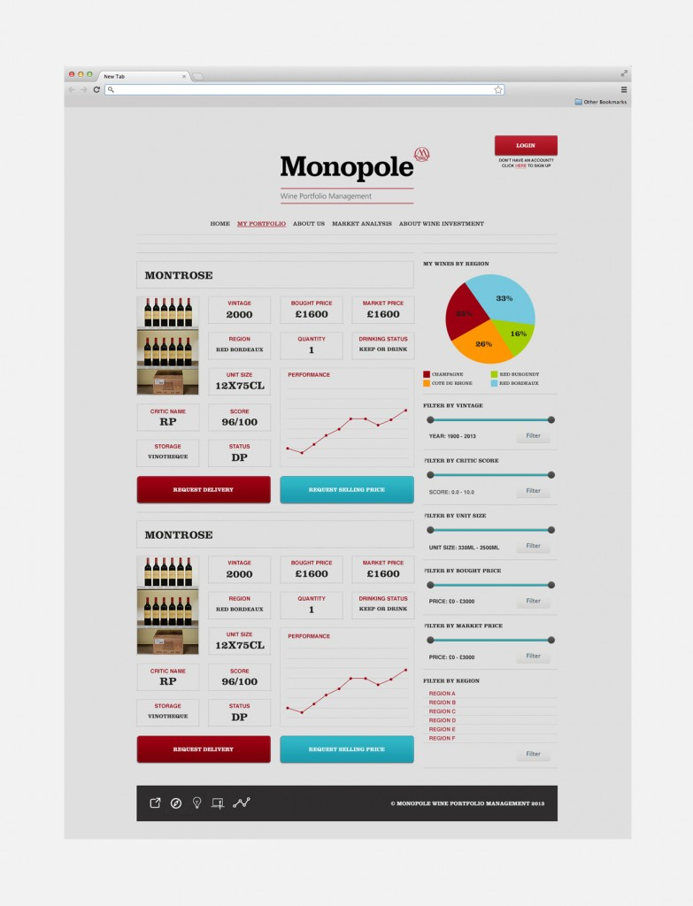 Monopole Wine management website