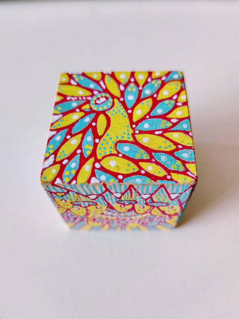 Painted cube